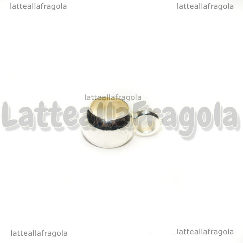 10 Portapendenti in acrilico silver plated 13x6mm