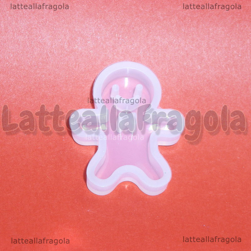 Stampo Gingerbread in silicone lucido 22x28mm