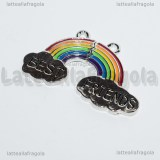 Coppia Ciondoli Arcobaleno Best Friends in metallo smaltato 39x24mm