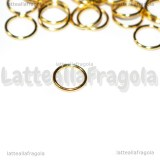 50 Anellini apribili in Acciaio Gold Plated 6x0.7mm