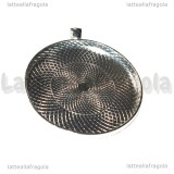 Base Cammeo in metallo silver plated per cammei 50mm
