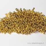 200 Perle lisce in metallo gild plated 2mm