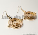 Orecchini Giratempo in metallo Gold Plated