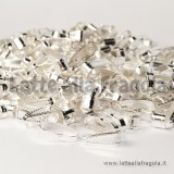 Contromaglia per ciondoli in metallo Silver Plated 11x4mm