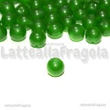 10 Perle in Agata Verde 6mm