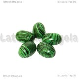 Cabochon in Pasta di Malachite 18x13mm