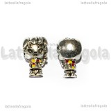 Harry Potter 3D foro largo in metallo argento antico 13x8mm