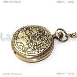 Orologio apribile Dottor Who color bronzo 45mm collana 80cm